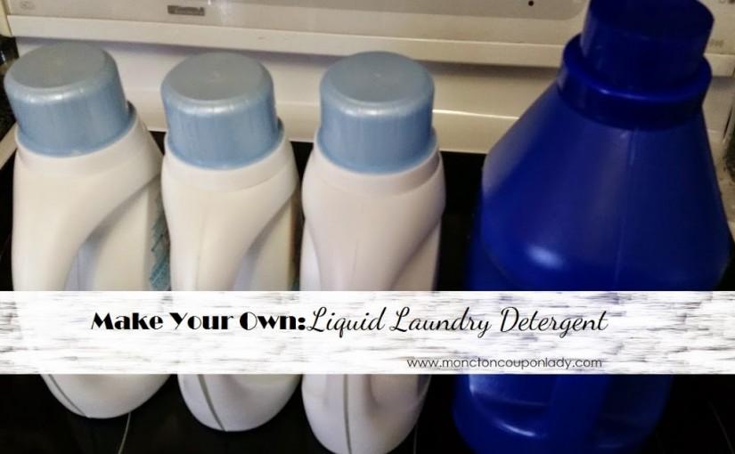DIY Laundry Detergent Liquid