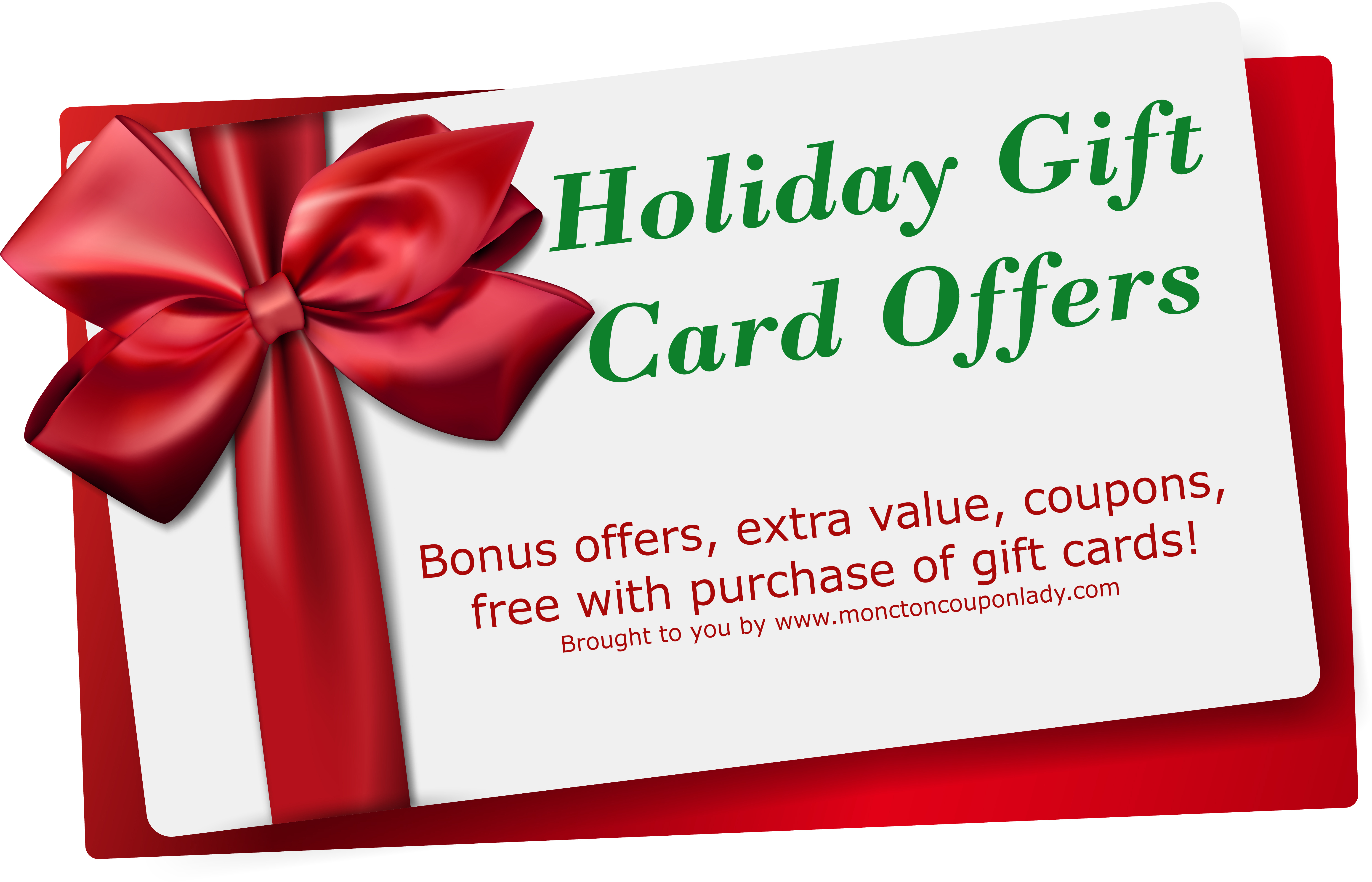 Gift card holiday offers