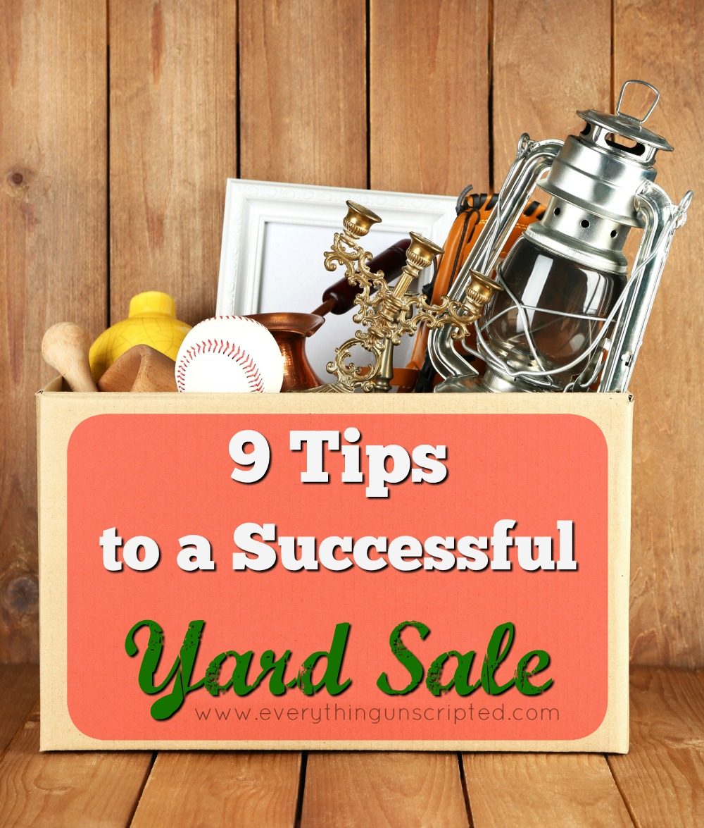 9 Tips for a successful yard sale!