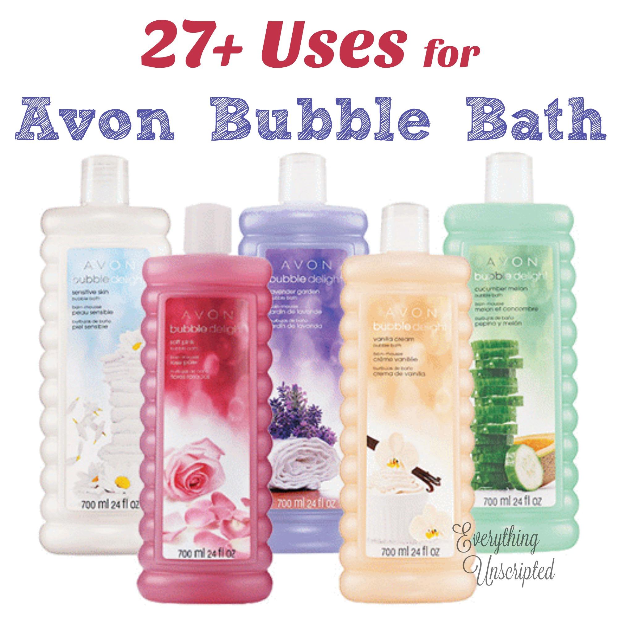 27 Uses For Avon Bubble Bath