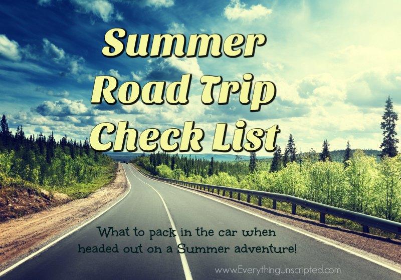 Summer Road Trip Check List
