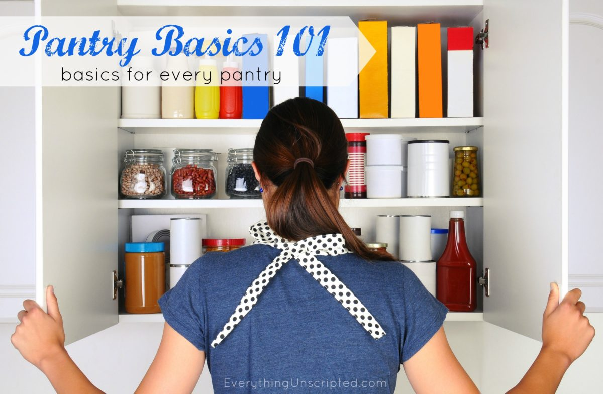 Pantry Basics 101 – What should you have in your pantry?