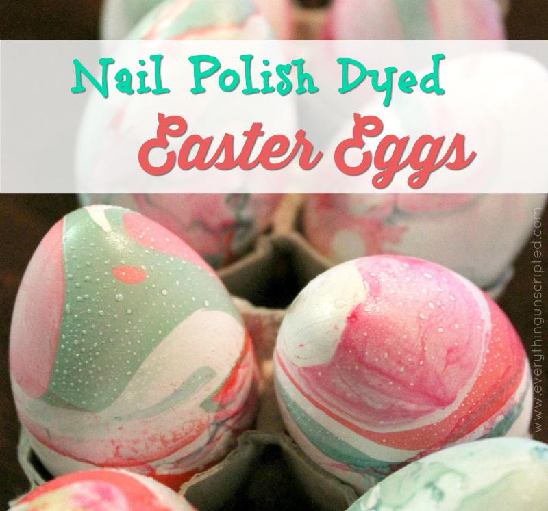 Nail Polish Dyed Easter Eggs & More Egg Crafts {ECM Blog Hop!}