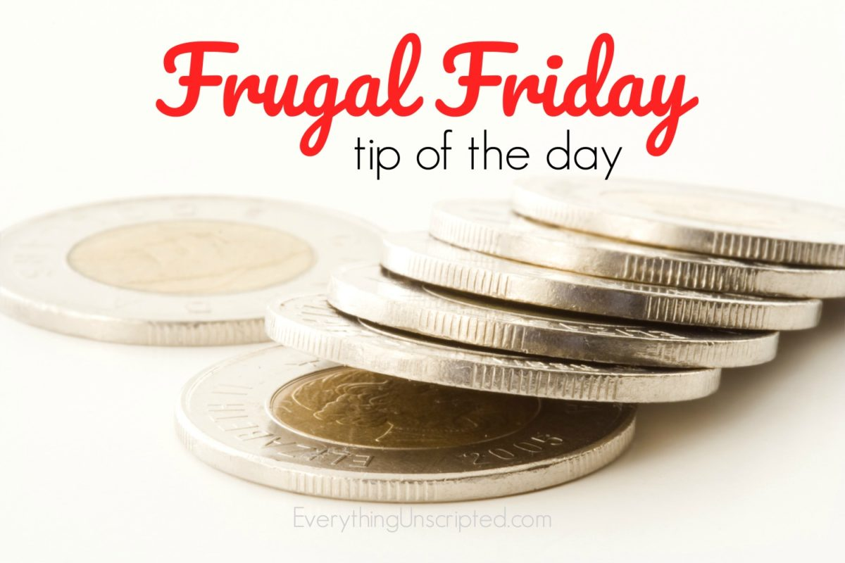 Frugal Friday – Energy Saving Tip #1