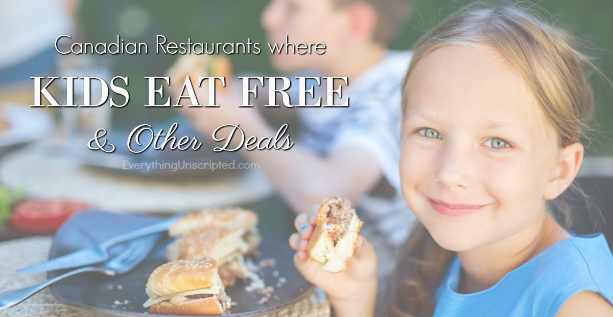 Restaurants Where Kids Eat Free & Other Specials