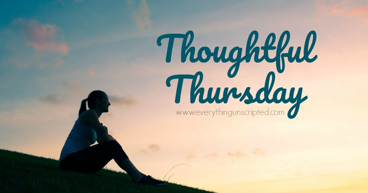 Thoughtful Thursday – Don't compare…