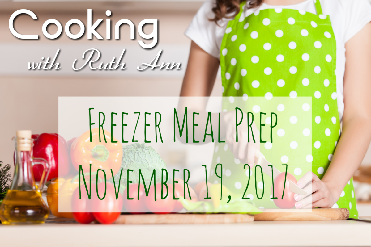Cook With Me- Prepping 3 Meatless Freezer Meals